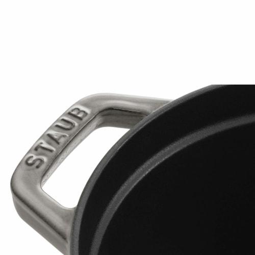 Staub Cast Iron 7-qt Oval Cocotte - Graphite Grey Perspective: bottom