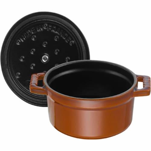 Staub Cast Iron 4-qt Round Cocotte - Burnt Orange Perspective: bottom
