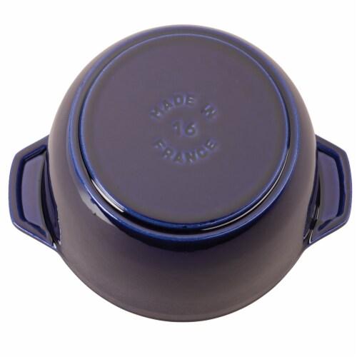 Staub Cast Iron 1.5-qt Petite French Oven - Dark Blue Perspective: bottom