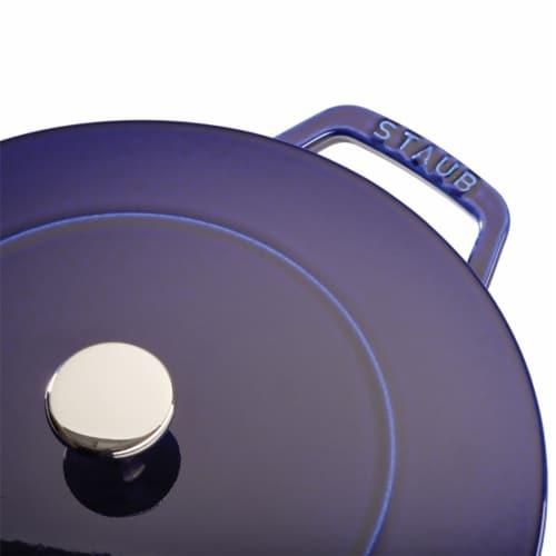 Staub Cast Iron 3.75-qt Essential French Oven - Dark Blue Perspective: bottom