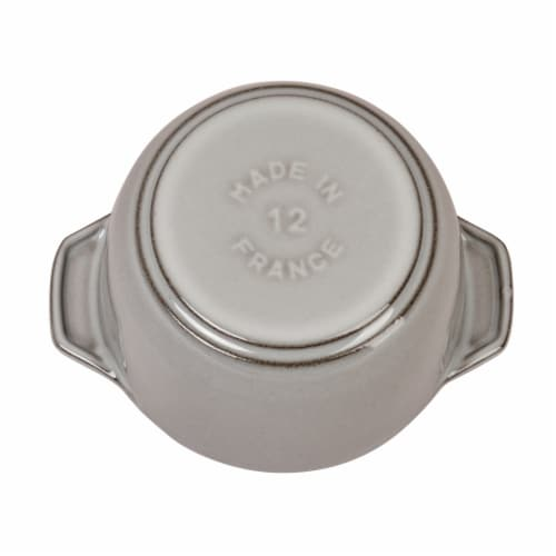 Staub Cast Iron 0.75-qt Petite French Oven - Graphite Grey Perspective: bottom