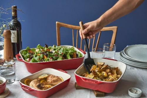 Staub Ceramics 3-pc Rectangular Baking Dish Set - Cherry Perspective: bottom