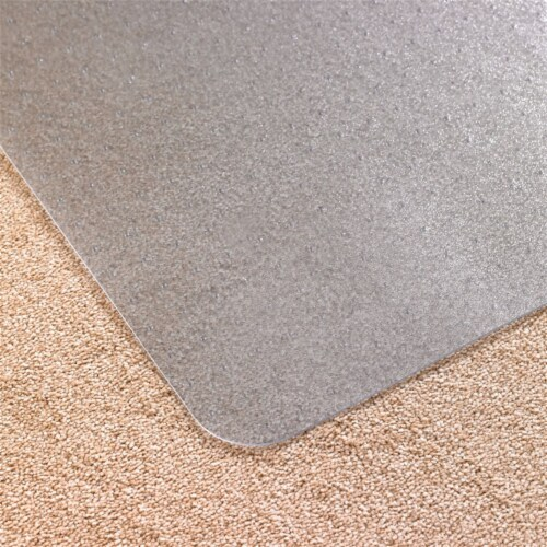 Floortex Solutions FR1115015023ER Clear Floor Office Chair Mat, 60 x 60 Inch Perspective: bottom