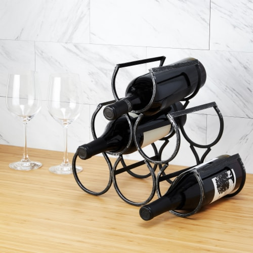 Wine Shrine Metal Bottle Holder by Twine® Perspective: bottom