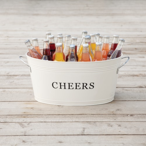 Cheers Galvanized Metal Tub by Twine® Perspective: bottom