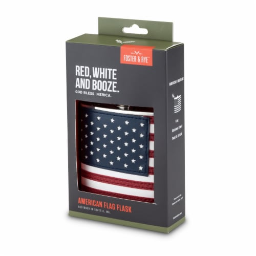 American Flag Flask by Foster & Rye™ Perspective: bottom