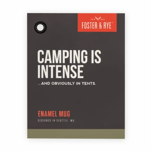 Foster & Rye 3858 Camping is Intents Enamel Mug, White Perspective: bottom