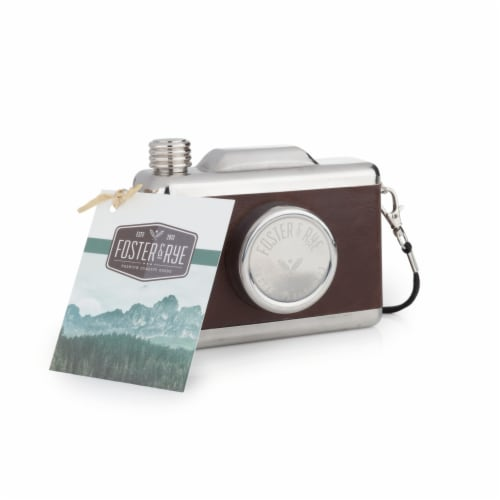 Stainless Steel Snapshot Flask by Foster & Rye™ Perspective: bottom
