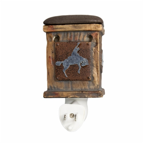 Scentsationals Home Fragrance Western Rustic Plug-in Accent Wax Warmer and15 Watt Light Bulb Perspective: bottom