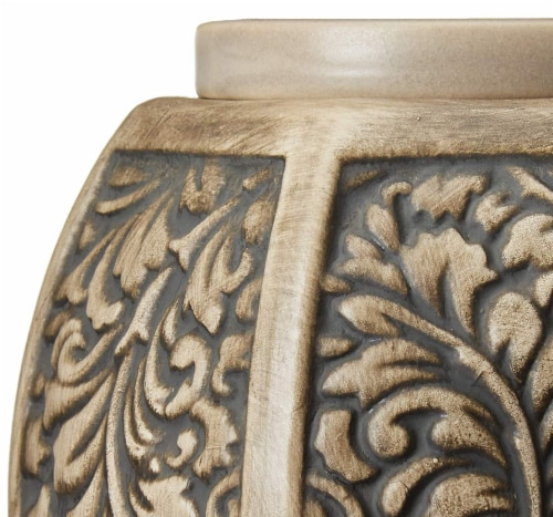 Common Scents Carved Laurel Full Size Wax Warmer Perspective: bottom