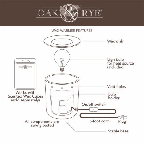 Oak & Rye Petra Full Size Wax Warmer Perspective: bottom
