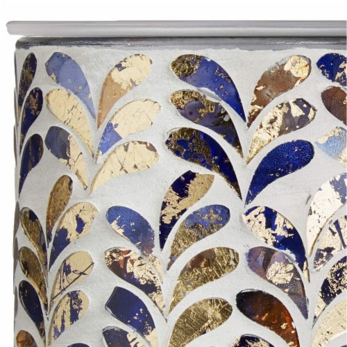 Scentsationals Home Indoor Decorative MOSAIC Royal Plume Full Size Wax Warmer, 31x31x7.5CM Perspective: bottom
