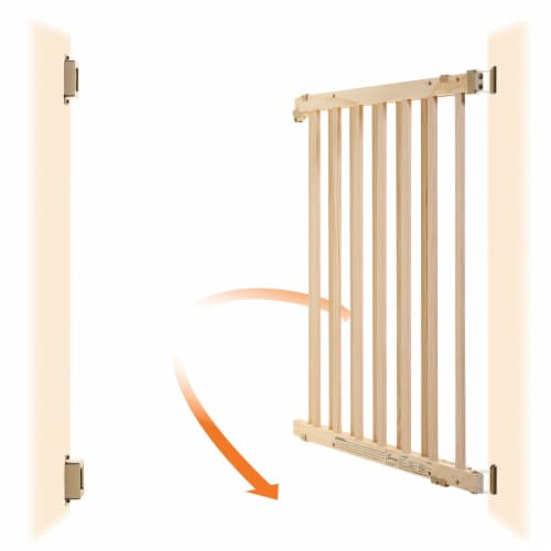 Dreambaby Nelson Swing Gro-Gate Expandable Wooden Baby Pet Safety Gate, Natural Perspective: bottom