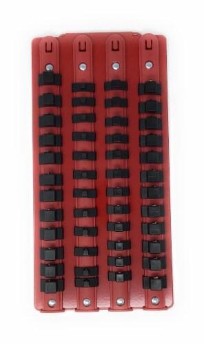 Industro Socket Tray Rack - Red/Black, Holds 48 Sockets Perspective: bottom