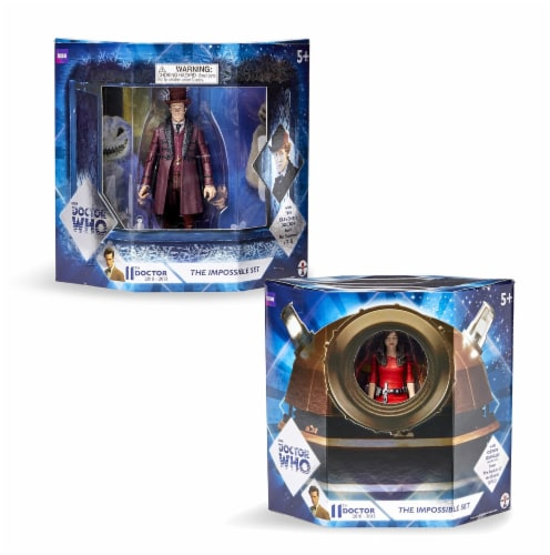 """Doctor Who The Impossible Set w/ 11th Doctor & Oswin Oswald 5"""" Action Figures Perspective: bottom"""