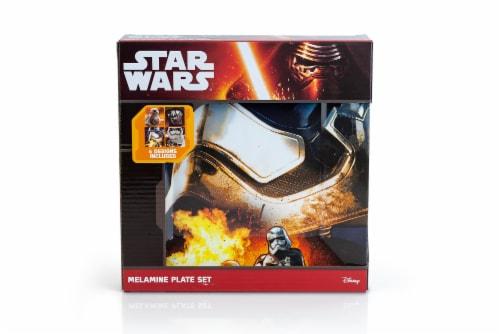 Star Wars Melamine Plate Set - 4 Pieces - Stormtrooper, Kylo Ren, and BB8 Perspective: bottom
