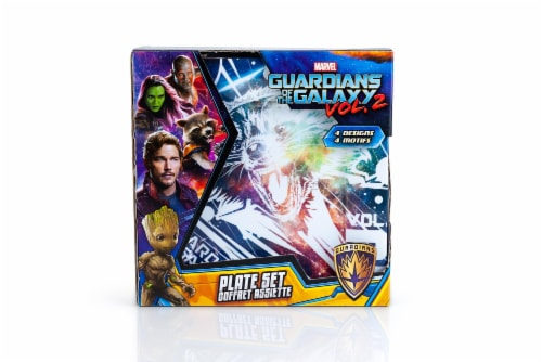 """Guardians of the Galaxy Vol. 2 4-Pack 8"""" Plastic Plates Perspective: bottom"""