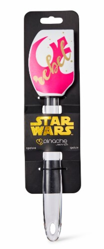 Star Wars White/Pink Rebel 11 Inch Silicone Spatula Perspective: bottom