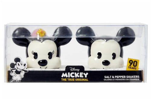 Disney Mickey Mouse & Minnie Mouse Salt & Pepper Shaker Set | Ceramic Shakers Perspective: bottom