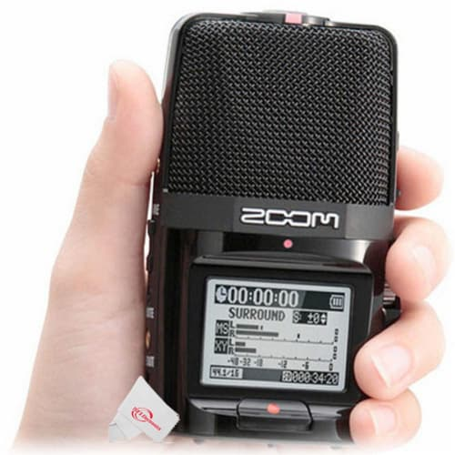 Zoom H2n Ext 2-input / 4 Track Handy Digital Audio Stereo Recorder With 5 Built-in Mic Array Perspective: bottom