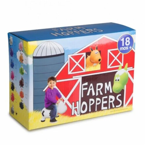 Farm Hoppers Inflatable Bouncing Yellow Dog Perspective: bottom