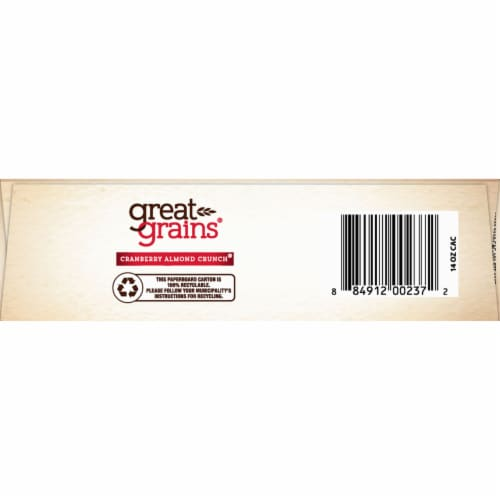 Post Great Grains Cranberry Almond Crunch Cereal Perspective: bottom