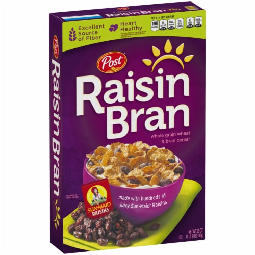 Raisin Bran Whole Grain Wheat & Bran Cereal Perspective: bottom