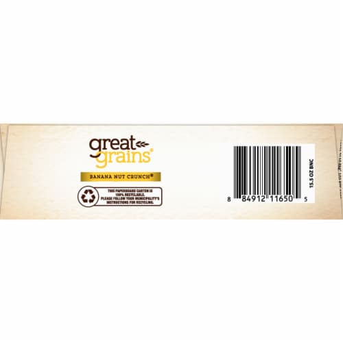 Post Great Grains Banana Nut Crunch Cereal Perspective: bottom