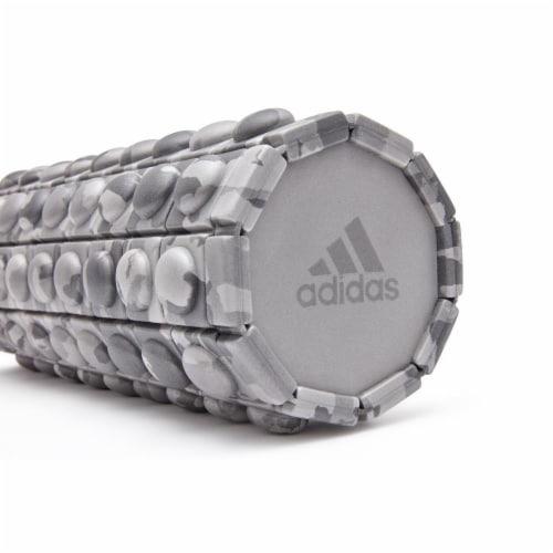 Adidas ADAC-11505GR Round Textured Foam Fitness Muscle Massage Roller, Grey Camo Perspective: bottom