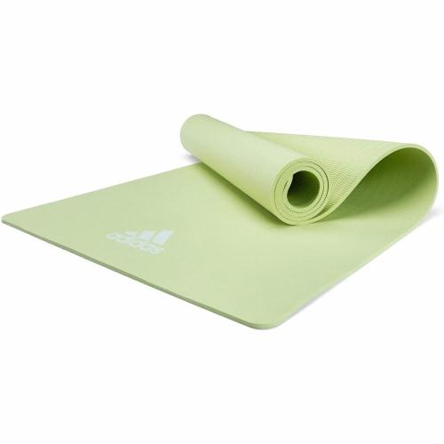 Adidas Universal Exercise Slip Resistant Fitness Yoga Mat, 8mm, Aero Green Perspective: bottom