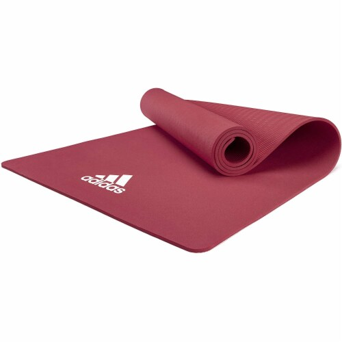 Adidas Universal Exercise Slip Resistant Fitness Yoga Mat, 8mm, Mystery Ruby Perspective: bottom