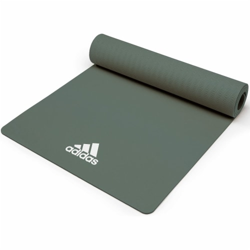 Adidas Universal Exercise Slip Resistant Fitness Yoga Mat, 8mm Thick, Raw Green Perspective: bottom