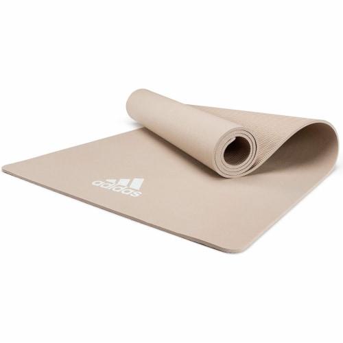 Adidas Universal Exercise Slip Resistant Fitness Yoga Mat, 8mm, Vapor Grey Perspective: bottom