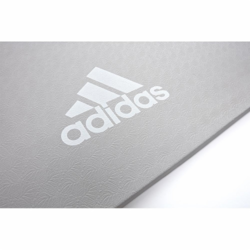 Adidas Universal Exercise Slip Resistant Fitness Yoga Mat, 8mm Thick, Grey Perspective: bottom