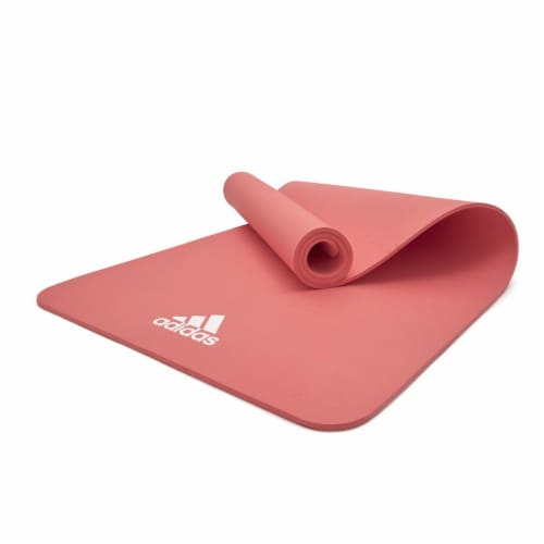 Adidas Universal Exercise Slip Resistant Fitness Yoga Mat, 8mm Thick, Glow Pink Perspective: bottom
