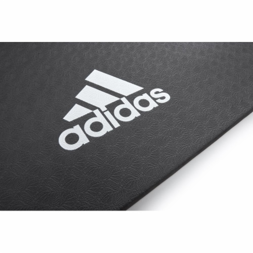 Adidas Universal Exercise Slip Resistant Fitness Yoga Mat, 8mm Thick, Black Perspective: bottom
