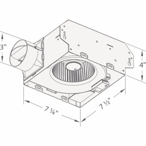 Delta BreezSlim 50 CFM 1.0-Sone 120V Bath Exhaust Fan 50F Perspective: bottom