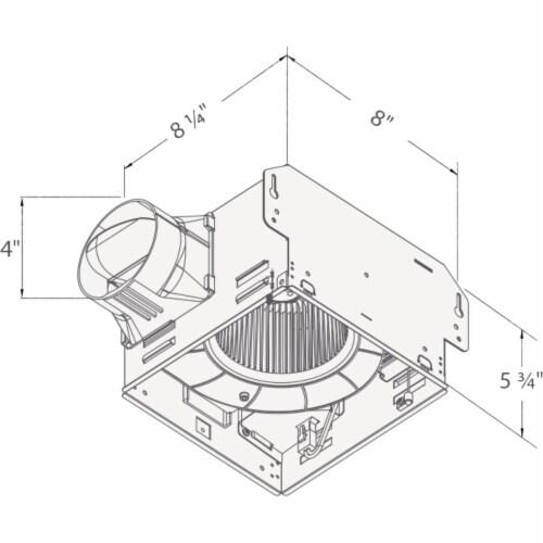 Delta Breez GreenBuilder 100 CFM 1.5 Sone 120V Bath Exhaust Fan 100F Perspective: bottom