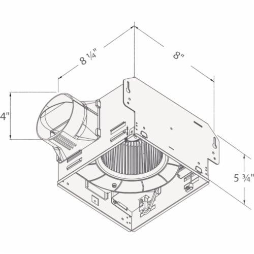 Delta 100cfm Humdsnsr Bath Fan 100HS Perspective: bottom