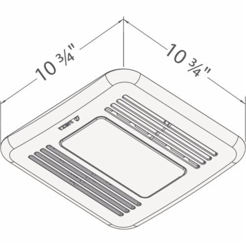 Delta BreezIntegrity 50 CFM 0.7 Sones Bath Exhaust Fan with LED Light 50F-LED Perspective: bottom
