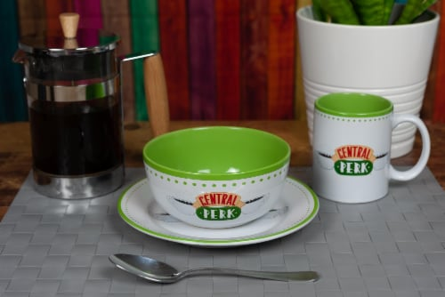 Friends Central Perk Coffee House Dining Set Collection | 3-Piece Dinner Set Perspective: bottom
