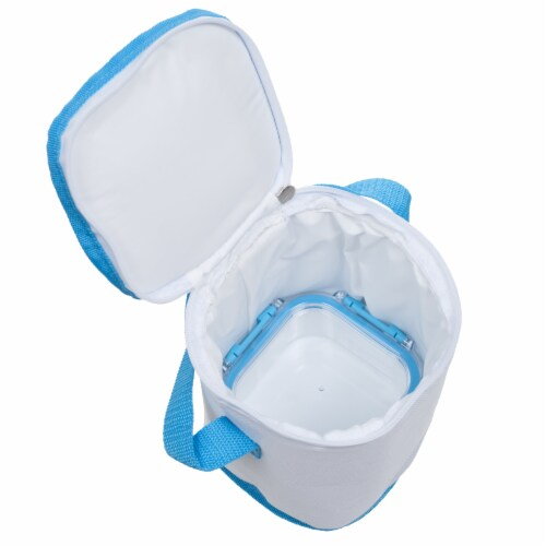 Classic Cuisine Portable 3 Piece Food Storage Set with Insulated Bag Perspective: bottom