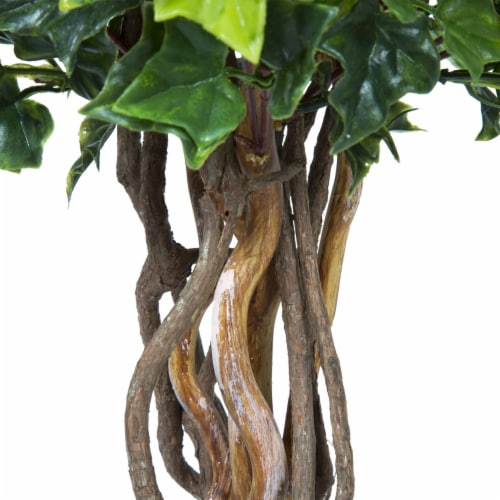 Pure Garden 30 Inch English Ivy Single Ball Topiary Tree - Set of 2 Perspective: bottom