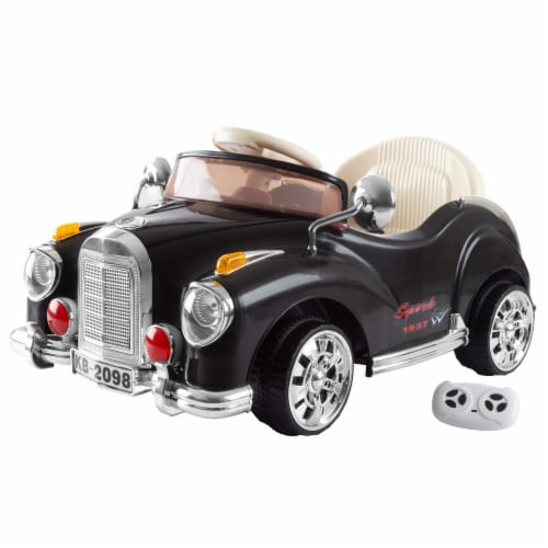 Ride On Toy Car, Battery Powered Classic Car Coupe With Remote Control and Sound Toys for Perspective: bottom