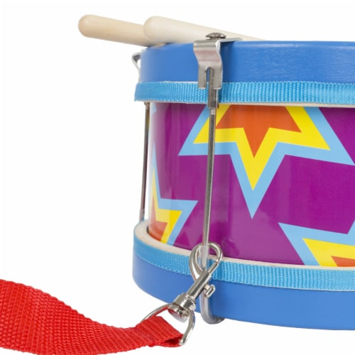 Children's Toy Snare Marching Drum, Double-Sided with Adjustable Neck Strap and Two Wood Drum Perspective: bottom