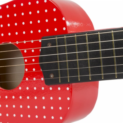 Toy Acoustic Guitar with 6 Tunable Strings and Real Musical Sounds Perspective: bottom