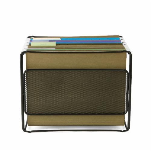 Mind Reader Desktop File Folder Organizer Box - Black Perspective: bottom
