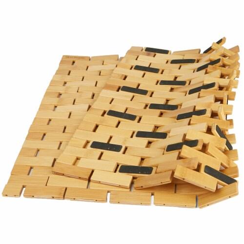 Mind Reader Bamboo Mildew Resistant Bath Mat Perspective: bottom
