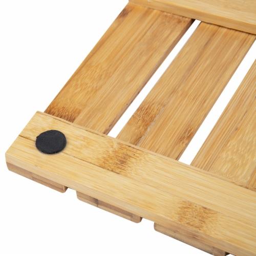Mind Reader Bamboo Anti-Slip Bath Mat Perspective: bottom