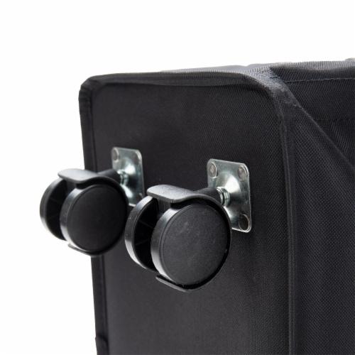 Mind Reader Slim Rolling Laundry Hamper With Wheels - Black Perspective: bottom